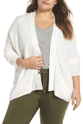 Caslon Drop Shoulder Cardigan (Plus Size)