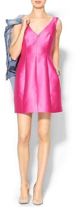 Kate Spade Structured Silk Mini Dress