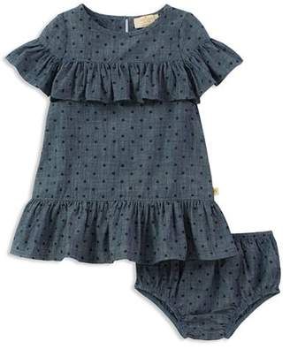 Kate Spade Girls' Ruffled Polka-Dot Chambray Dress & Bloomers Set - Baby