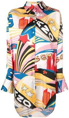 MSGM graphic print shirt