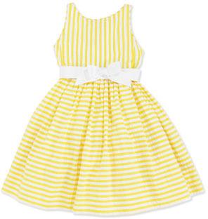 Ralph Lauren Vintage Seersucker Dress, Yellow, 2T-3T