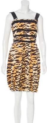 Dolce & Gabbana Sleeveless Tiger Print Dress