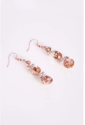 Quiz Rose Gold Drop Earrings