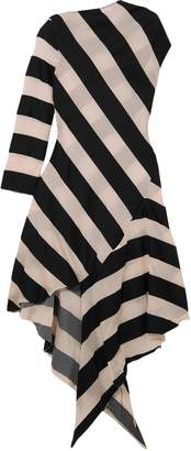 Marques Almeida Marques' Almeida Striped Cotton And Silk-blend Dress