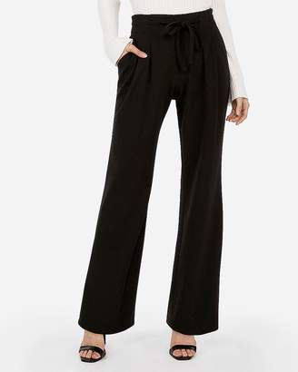 Express High Waisted Skinny Tie Waist Wide Leg Pant