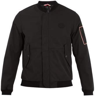 Moncler Jerry logo-appliqué gabardine bomber jacket