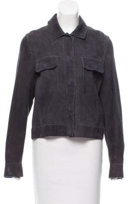 Les Copains Suede Collared Jacket