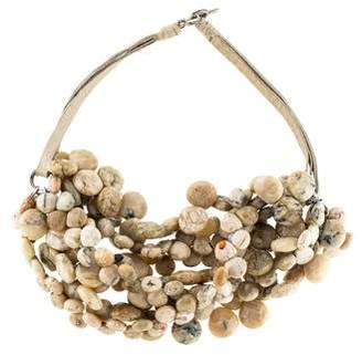 Brunello Cucinelli Multistrand Agate Bead Necklace