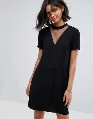Vila Mesh Detail Shift Dress