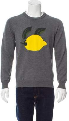 J.W.Anderson Lemon Intarsia Wool Sweater