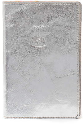Il Bisonte Metallic Cowhide Leather Book Cover