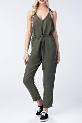Honeybelle honey belle Olive Solid Jumpsuit