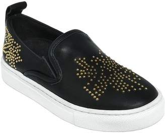 Chloé Studded Leather Slip-On Sneakers