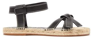 Loewe Gate Knotted Leather Sandals - Womens - Black