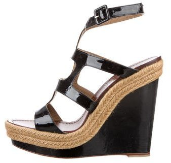 Christian Louboutin Christian Louboutin Patent Leather Wedge Sandals