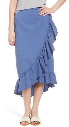 Hinge Ruffle Midi Skirt