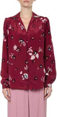 Valentino Floral Print Silk Shirt