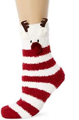 Fat Face Women's Fluffy Reindeer Socks