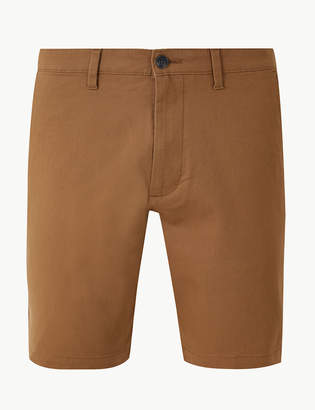 M&S CollectionMarks and Spencer Slim Fit Cotton Shorts with Stretch