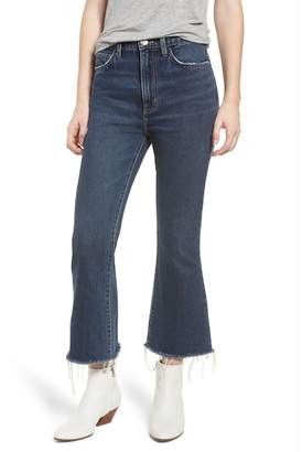 Current\u002FElliott The High Waist Kick Jeans (Peacenik with Raw Hem)