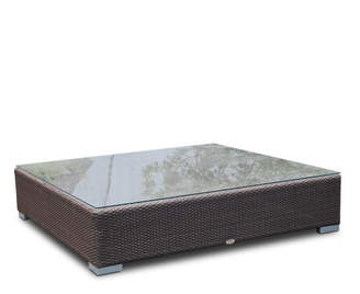 Houseology Skyline Pacific Coffee Table - Silver Walnut - L