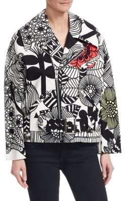 Junya Watanabe Printed Moto Jacket