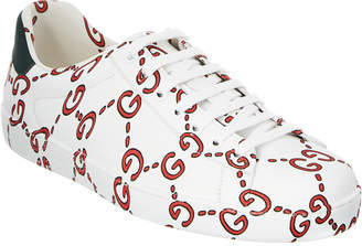 Gucci Ace Gg Print Leather Sneaker