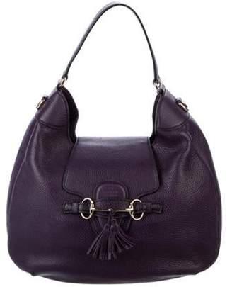 Gucci Leather Emily Hobo Plum Leather Emily Hobo