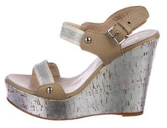 Philosophy di Alberta Ferretti Metallic-Accented Platform Wedges