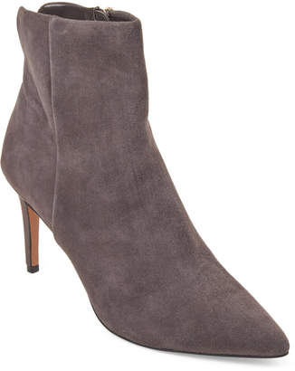 Steve Madden Steven By Grey Leiland Suede Pointed Toe Booties
