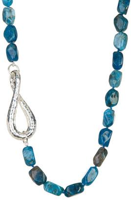 SIMON SEBBAG Blue Apatite Nugget & Sterling Silver Necklace $248 thestylecure.com