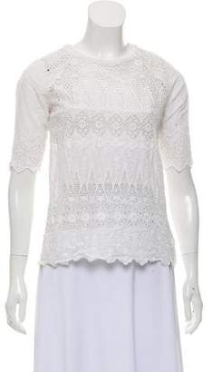 Ulla Johnson Crochet Embroidered Blouse