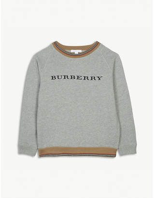 Burberry Stripe logo cotton jumper 4-14 years