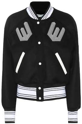 46902807499f Off-White Wool-blend varsity jacket