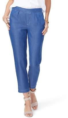 NYDJ Hidden Drawstring Chambray Pants (Andreas Wash) (Regular & Petite)