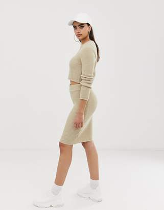 Asos Design DESIGN co-ord pencil skirt in knit