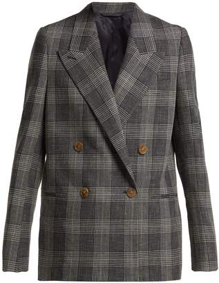 Acne Studios Double-breasted Prince of Wales-checked blazer