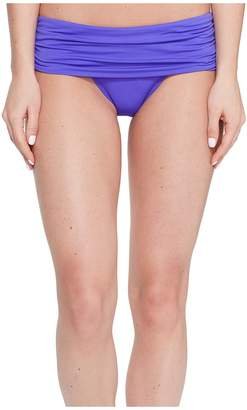 Lauren Ralph Lauren Beach Club Solids Wide Shirred Banded Hipster Bottom Women's Swimwear