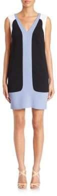 Aquilano Rimondi V-Neck Colorblock Dress