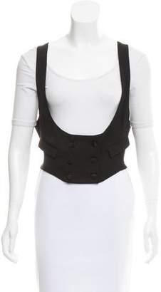 Saint Laurent Double-Breasted Scoop Neck Vest
