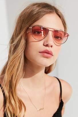 Urban Outfitters Miami Flat-Top Aviator Sunglasses