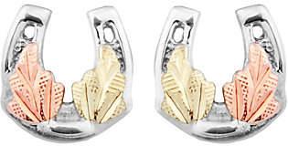 Black Hills Horseshoe Earrings Sterling /12K