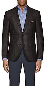 Luciano Barbera Men's Wool-Blend Two-Button Sportcoat-Brown Pat.