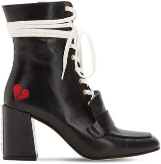 Xo Havva 75mm Leather Lace-Up Boots