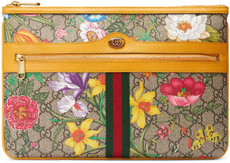Gucci Ophidia Large GG Flora Pouch Clutch Bag