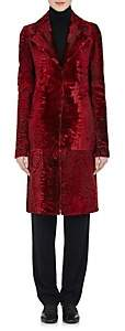 The Row Women's Coyan Astrakhan Fur Coat - Red