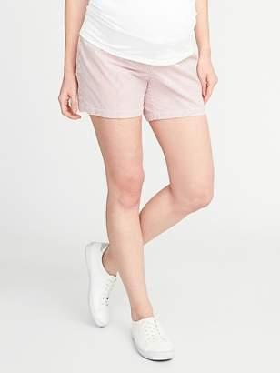"Old Navy Maternity Side-Panel Seersucker Shorts (5"")"