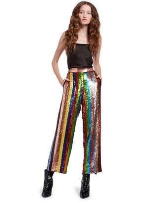 Alice + Olivia Meera Sequin Pajama Pant