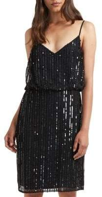 French Connection After Shine Embellished Blouson Dress