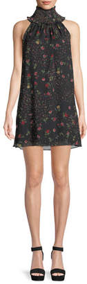 Bailey 44 Irina Floral Turtleneck Sleeveless Mini Dress